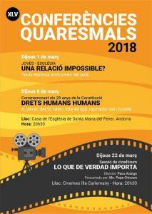 Conferències Quaresmals 2018 @ Església de Santa M. del Fener | Escaldes-Engordany | Andorra