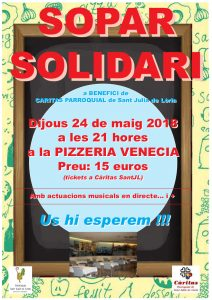 2n Sopar Solidari en benefici de Càritas Parroquial de Sant Julià @ Pizzeria Venècia | Sant Julià de Lòria | Andorra