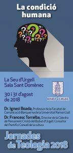 Jornades de Teologia 30 i 31 d'agost de 2018 @ Sala Sant Domènec | La Seu d'Urgell | Catalunya | Espanya