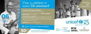 Música, Art i Solidaritat per celebrar el 25è aniversari d'Unicef Andorra