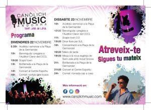 Canòlich Music 2019. Programa i vídeo promocional @ Sant Julià de Lòria | Andorra