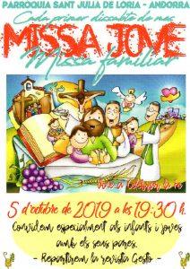 Cada 1r dissabte de mes, missa d'infants i joves