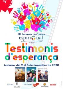 """Setmana del Cinema Espiritual 2020 amb el títol """"Testimonis d'Esperança"""""""