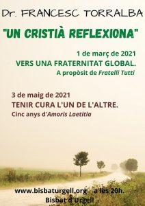 Conferències del Dr. F. Torralba a la Diòcesi d'Urgell (Vídeo en directe)